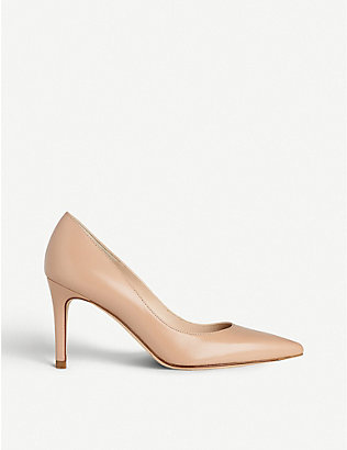 LK BENNETT: Floret pointed leather court shoes