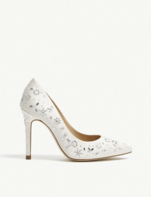 LK BENNETT Jenny Packham embellished Fern heeled courts