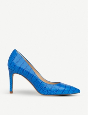 LK BENNETT Floret croc-effect leather courts