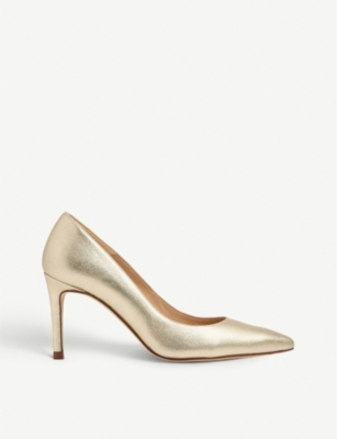 LK BENNETT Floret metallic court shoe