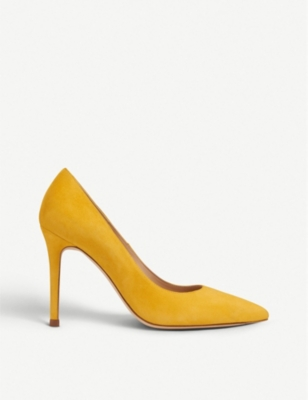 LK BENNETT Fern pointed toe suede court shoes
