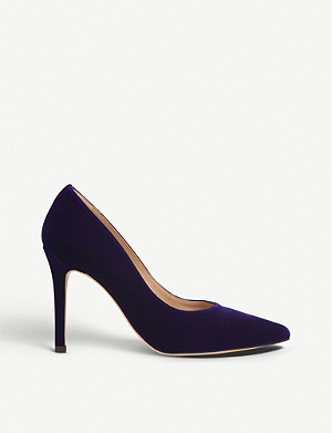 LK BENNETT Fern pointed suede courts