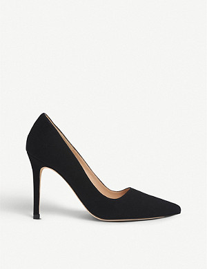 LK BENNETT Katie pointed toe suede courts