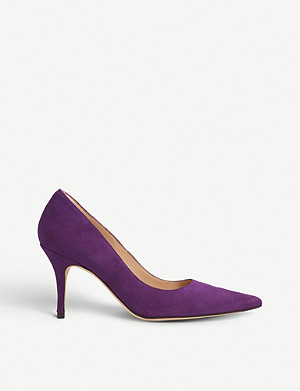 LK BENNETT Harmony pointed-toe suede courts