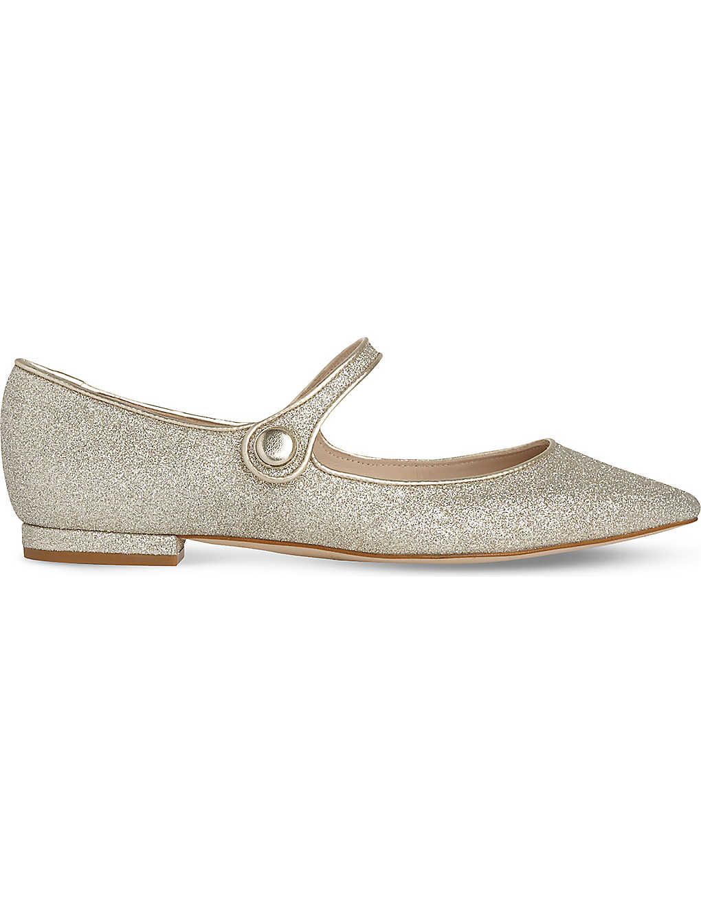 abd738d13 LK BENNETT - Mary-Jane metallic flats | Selfridges.com