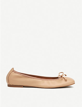 LK BENNETT: Trilly patent-leather ballerina flats