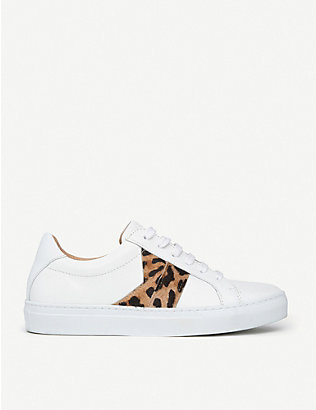 LK BENNETT: Alivia leopard-print leather trainers
