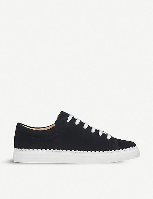 LK BENNETT Jana scalloped suede trainers