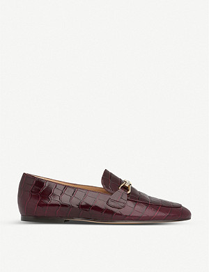 LK BENNETT Marina croc-embossed leather loafers