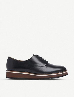 LK BENNETT Sandy leather platform brogues