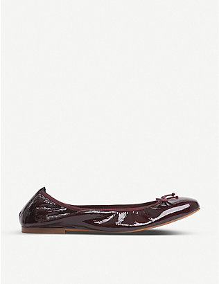 LK BENNETT: Trilly patent leather ballerina flats