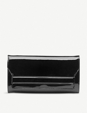 LK BENNETT Ella patent-leather clutch
