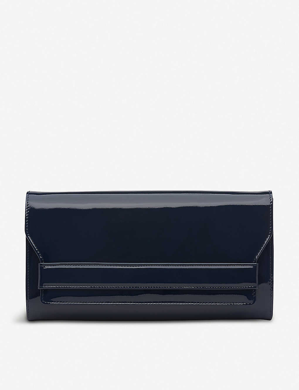 LK BENNETT: Ella patent-leather clutch