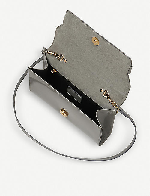 LK BENNETT Ella patent leather clutch