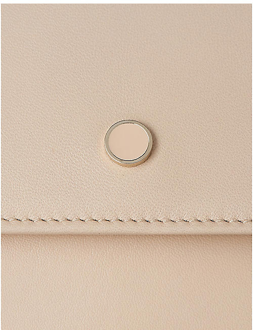 LK BENNETT Dora leather clutch bag