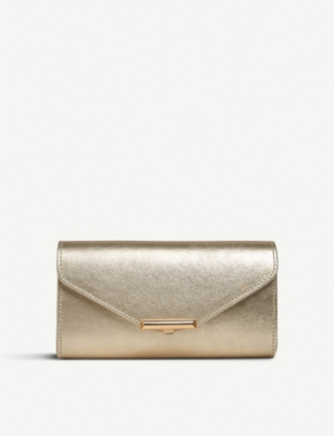 LK BENNETT Lucy leather envelope clutch bag