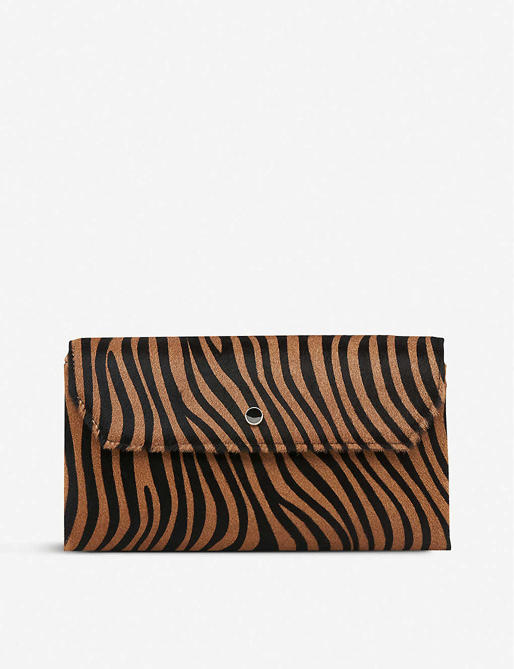 LK BENNETT: Dora calf hair leather clutch