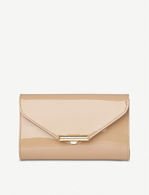 LK BENNETT Lucy patent leather clutch