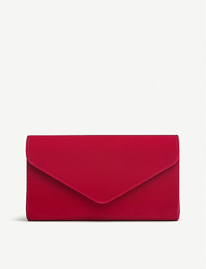 LK BENNETT Lucia velvet envelope clutch bag
