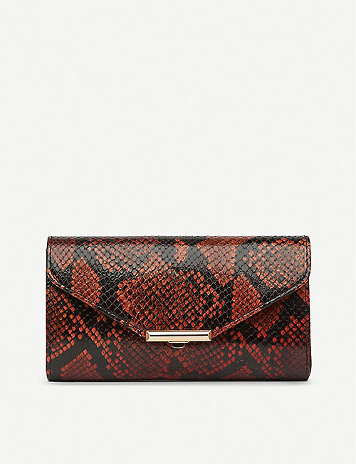 LK BENNETT Lucy leather clutch