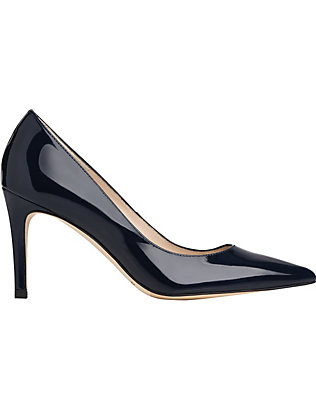 LK BENNETT: Floret pointed leather courts