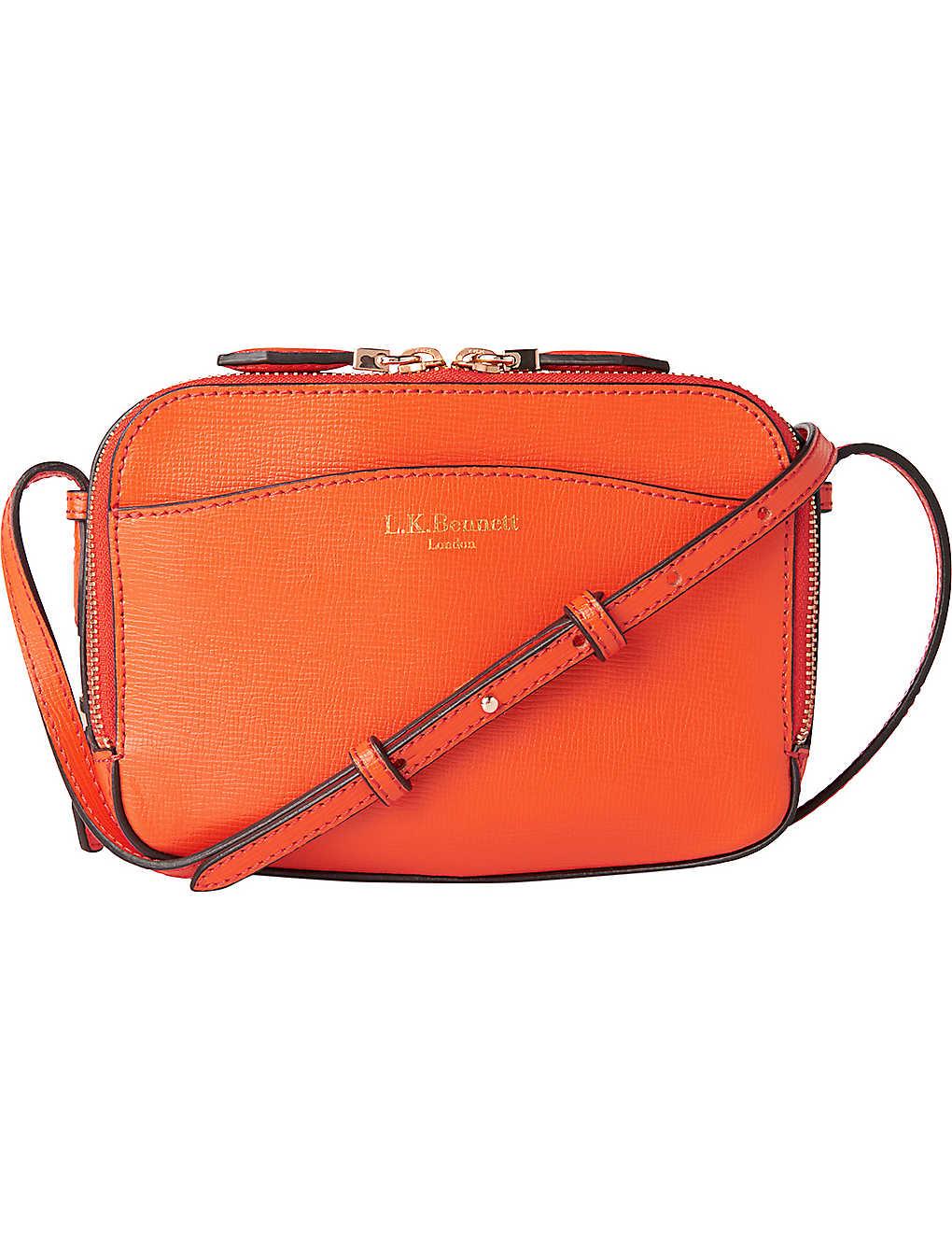 85c5568eb5ca LK BENNETT - Mariel saffiano leather cross-body bag | Selfridges.com