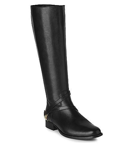 62f40166c71 LK BENNETT Nelia leather knee-high boots (Bla-black