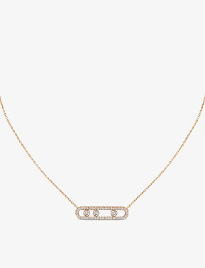 MESSIKA Move Pavé 18ct pink-gold and diamond necklace