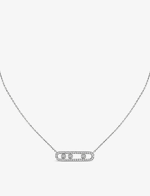 MESSIKA Move Pavé 18ct white-gold and diamond necklace