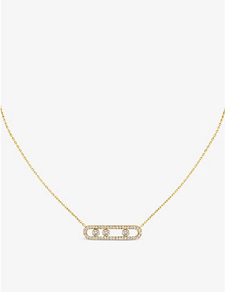 MESSIKA: Move Pavé 18ct yellow-gold and diamond necklace