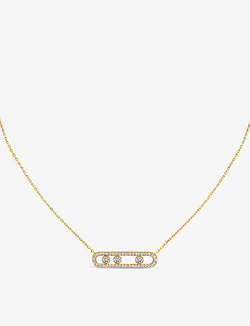 MESSIKA Move Pavé 18ct yellow-gold and diamond necklace
