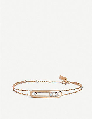 MESSIKA: Move 18ct rose-gold and diamond bracelet