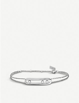 MESSIKA: Move 18ct white-gold and diamond bracelet