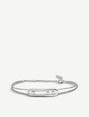 MESSIKA Move 18ct white-gold and diamond bracelet