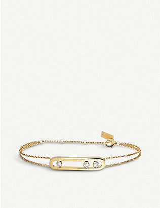 MESSIKA: Move 18ct yellow-gold and diamond bracelet
