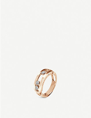 MESSIKA: Classic Move 18ct rose-gold and diamond ring