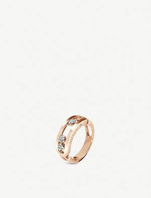MESSIKA Classic Move 18ct rose-gold and diamond ring