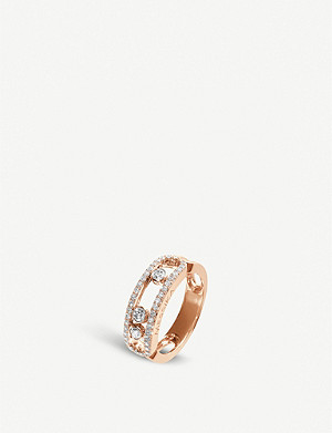 MESSIKA Move 18ct rose-gold and pave diamond ring