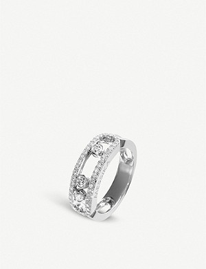 MESSIKA Move 18ct white-gold and pave diamond ring