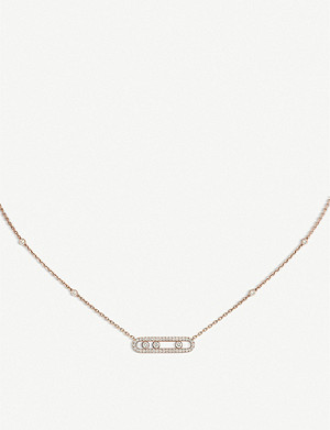 MESSIKA Baby Move Pavé 18ct pink-gold and diamond necklace