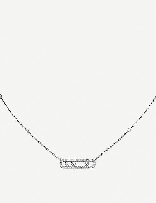 MESSIKA: Baby Move Pavé 18ct white-gold and diamond necklace