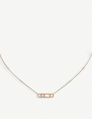 MESSIKA Baby Move 18ct pink-gold and diamond necklace