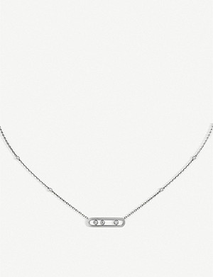 MESSIKA Baby Move 18ct white-gold and diamond necklace