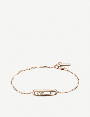 MESSIKA Baby Move 18ct rose-gold and diamond bracelet