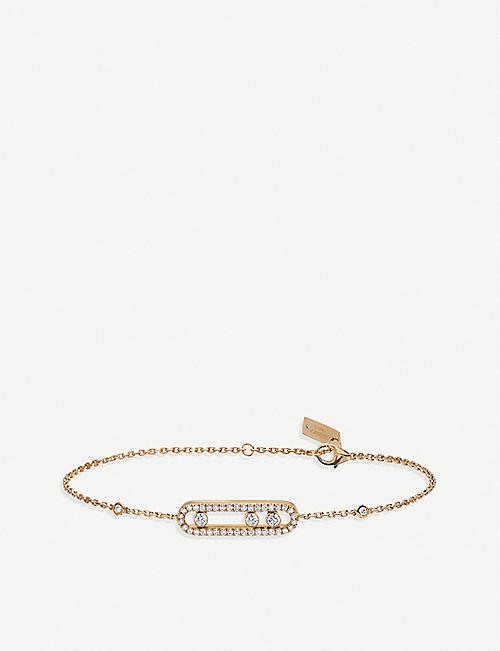 MESSIKA: Baby Move 18ct rose-gold and pave diamond bracelet