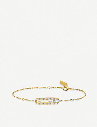 MESSIKA: Baby Move 18ct yellow-gold and pave diamond bracelet