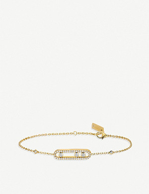 MESSIKA Baby Move 18ct yellow-gold and pave diamond bracelet
