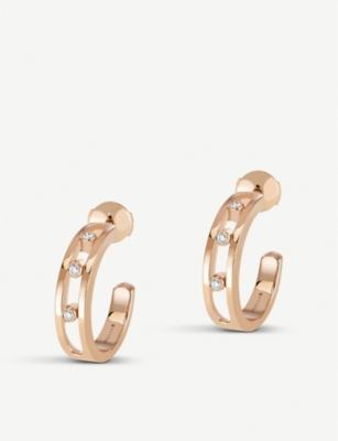 MESSIKA Move 18ct rose-gold and diamond hoop earrings