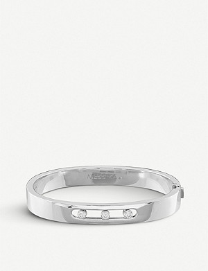 MESSIKA Move Joaillerie 18ct white-gold and diamond bangle