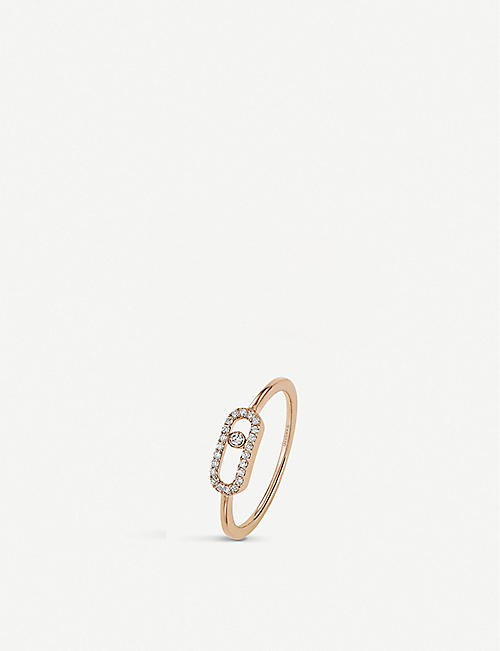 MESSIKA: Move Uno 18ct rose-gold and diamond ring